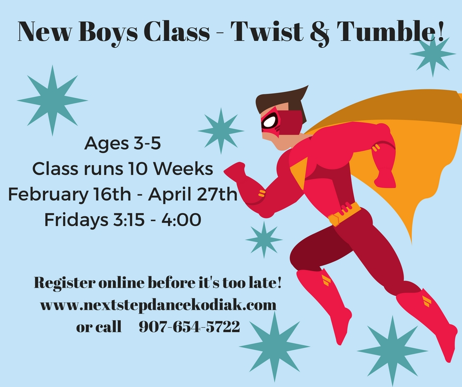 New boys class- Twist and tumble!