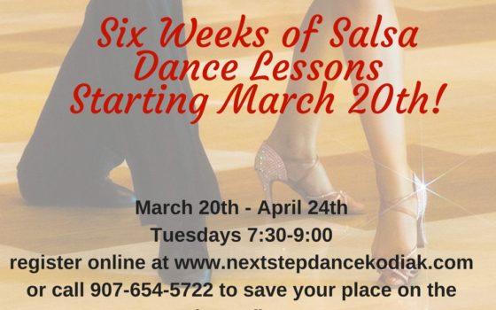 Beginning Salsa Lessons start March 20!