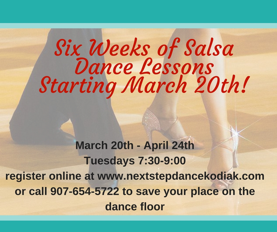Beginning Salsa Lessons start March 20!